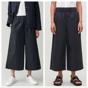 COS Cropped Wide Leg Elastic Waist Trouser Pants